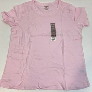 White Stag Tee Shirt Pink Scoop Neck 16-18